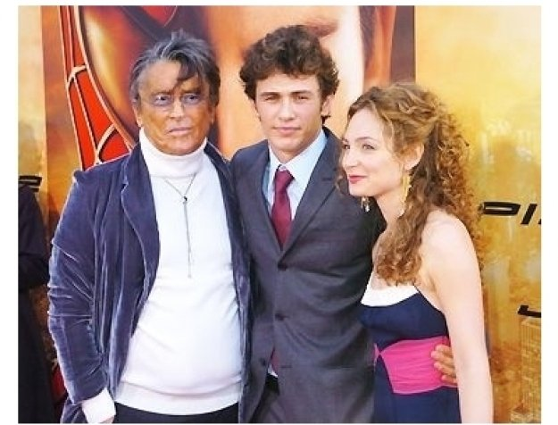 """Robert Evans, James Franco with date at the """"Spider-Man 2"""" Premiere"""