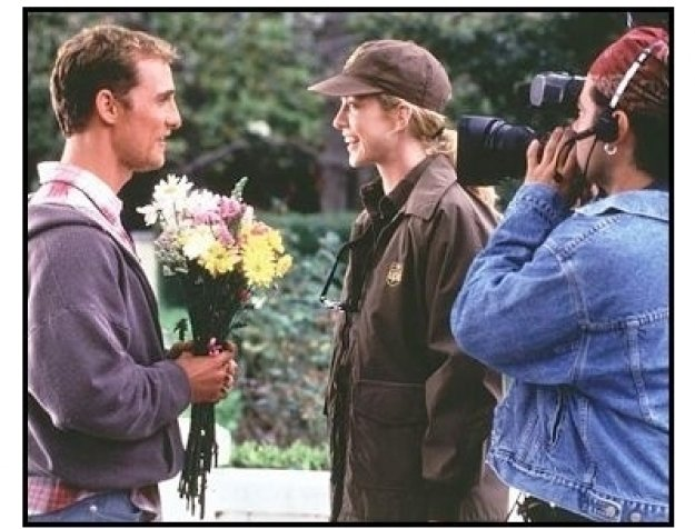 EdTV movie still: Ed Pekurny (Matthew McConaughey) and Shari's (Jenna Elfman) love life becomes part of the program