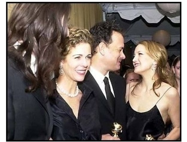 Chris Robinson, Rita Wilson, Tom Hanks and Kate Hudson at the 2001 Golden Globe Universal / DreamWorks Party