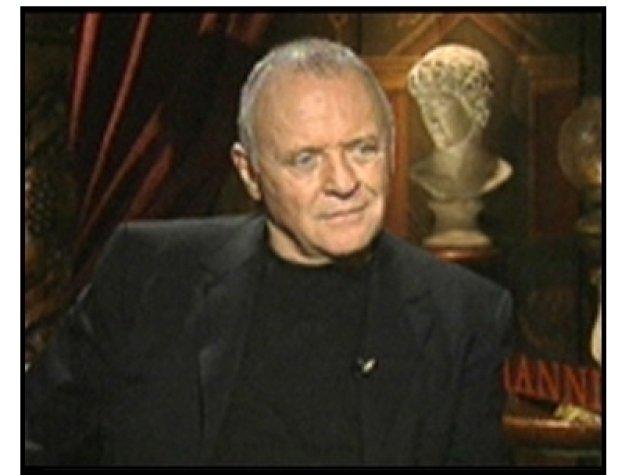 Hannibal interview video still -- Anthony Hopkins