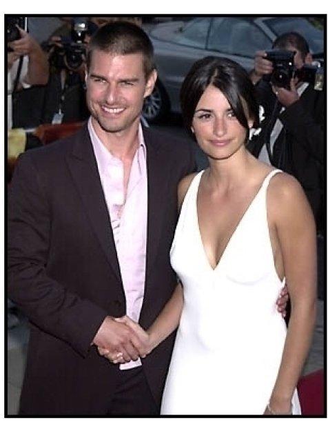 Tom Cruise and Penelope Cruz at the Captain Corelli's Mandolin premiere