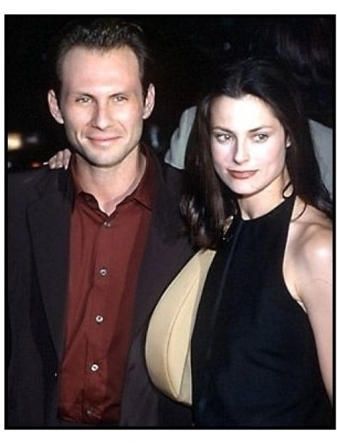 Christian Slater and wife at the Charlie's Angels premiere