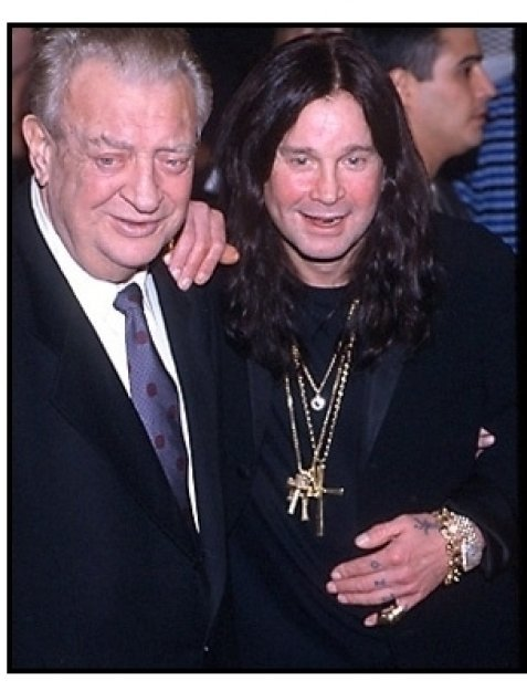 Rodney Dangerfield and Ozzy Ozbourne at the Little Nicky premiere