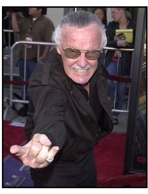 Stan Lee at the Spider-Man premiere