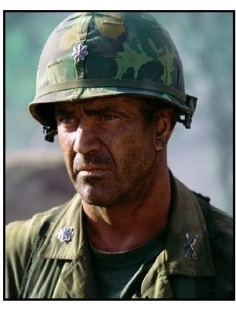 We Were Soldiers movie still: Mel Gibson as Lieutenant Colonel Harold G. Moore