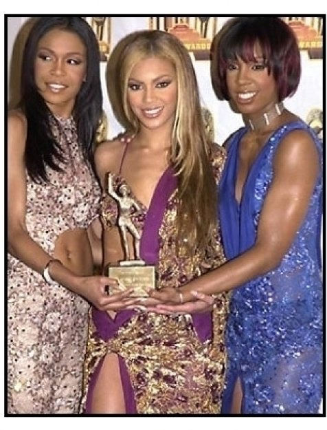 Destiny's Child backstage at the 2001 Soul Train Music Awards