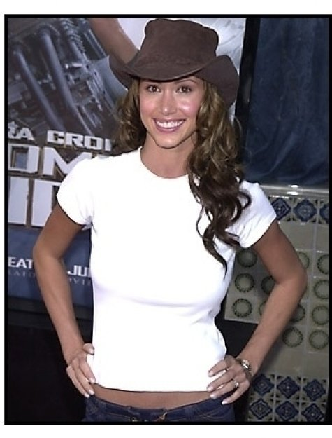 Shannon Elizabeth at the Tomb Raider premiere