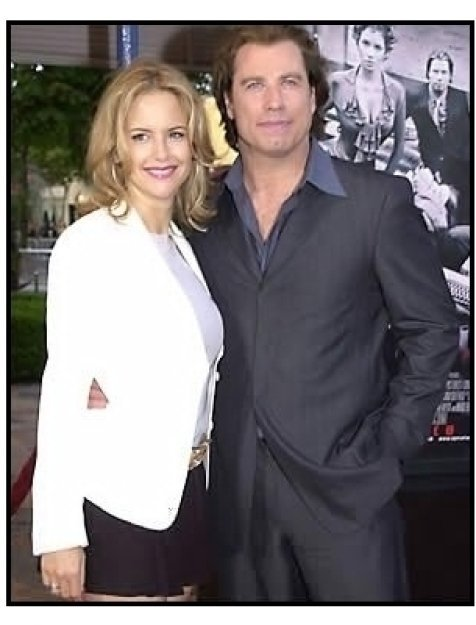 John Travolta and Kelly Preston at the Swordfish premiere