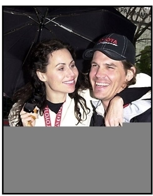 Josh Brolin and Minnie Driver at the 25th Annual Toyota Pro/Celebrity Race