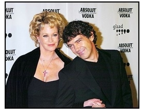 Melanie Griffith and Antonio Banderas at the 15th annual GLAAD Media Awards