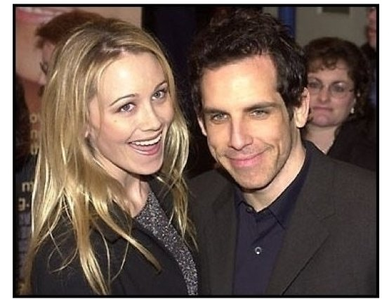 Ben Stiller and Christine Taylor at the What Women Want premiere