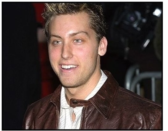 'N Sync member Lance Bass at The Sweetest Thing premiere