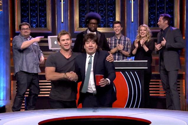Jimmy Fallon, Chris Hemsworth, Hugh Jackman, The Tonight Show Starring Jimmy Fallon